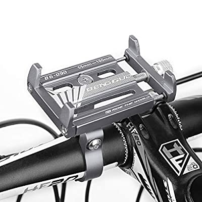Bike Phone Mount - Aluminum Bicycle & Motorcycle Phone Holder in Titanium or Red or Black