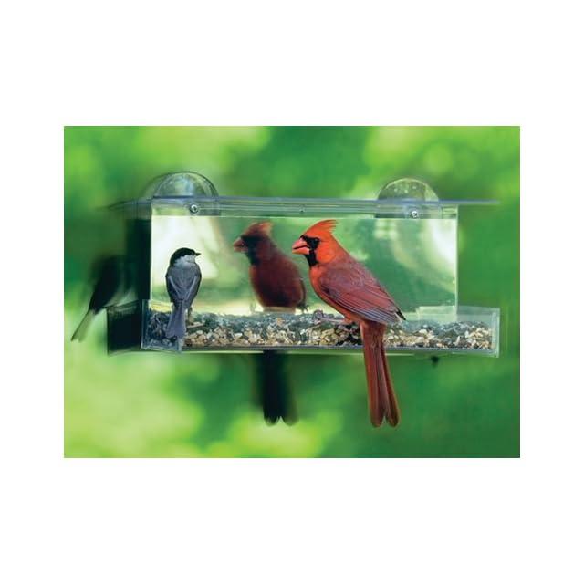 Duncraft 74205 Cardinal One Way Mirror Window Bird Feeder  Wild Bird Feeders  Patio, Lawn & Garden
