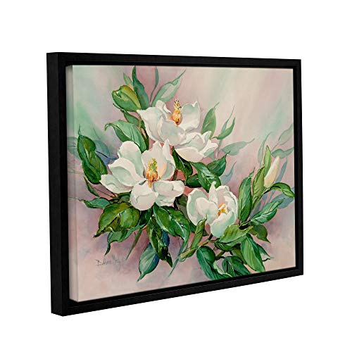 ArtWall Barbara Mock's Magnolia Blossoms, Gallery Wrapped Floater-Framed Canvas 24 x 32