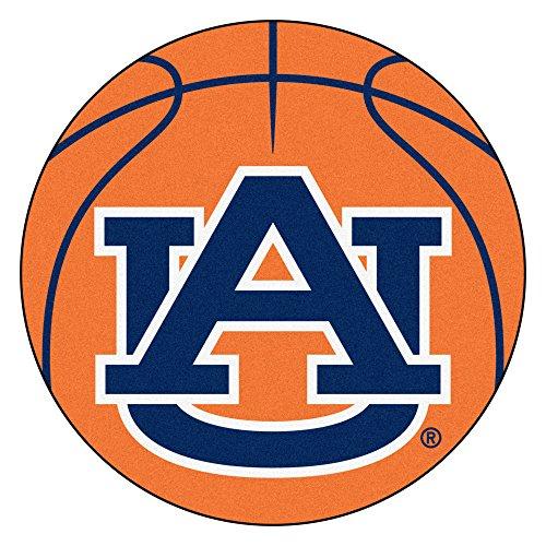(FANMATS NCAA Auburn University Tigers Nylon Face Basketball Rug)