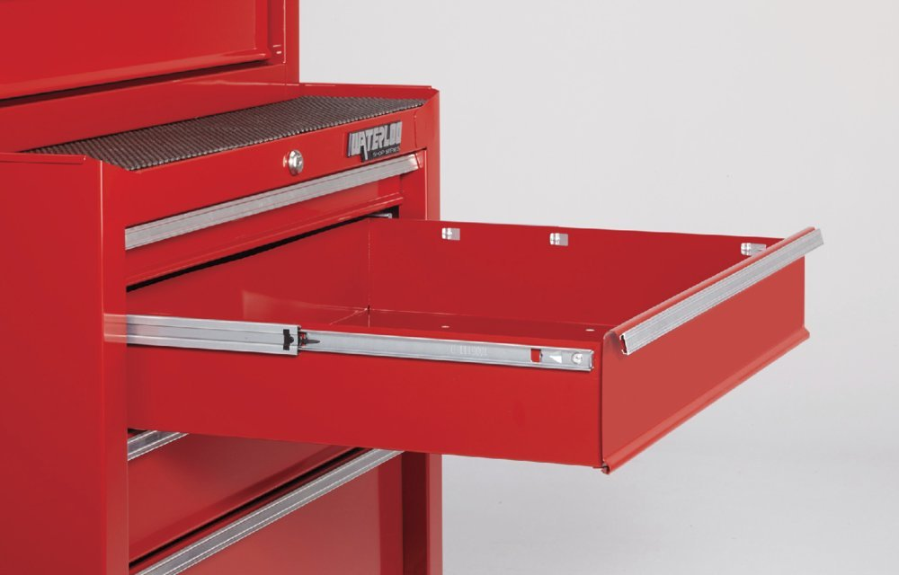 Waterloo Shop Series 5-Drawer Tool Cabinet, Red Finish, 26'' W - Designed, Engineered and Assembled in the USA by Waterloo (Image #2)