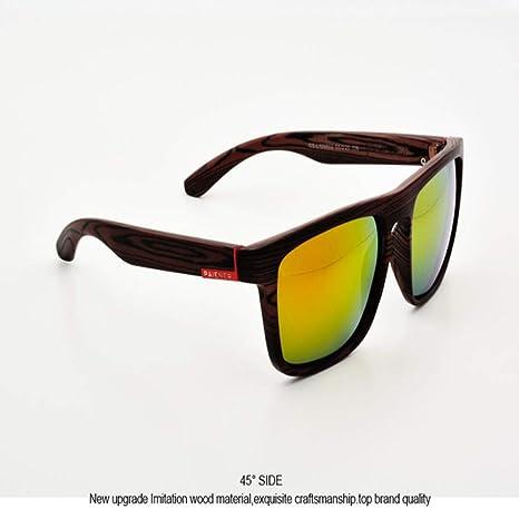 Yangjing-hl Gafas de Sol de imitación de Madera de bambú ...
