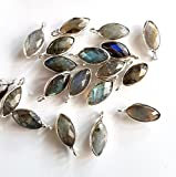 1 Piece Labradorite Faceted Marquise shape Gemstone Connector size - 11X21 mm Approx M No. - 2002
