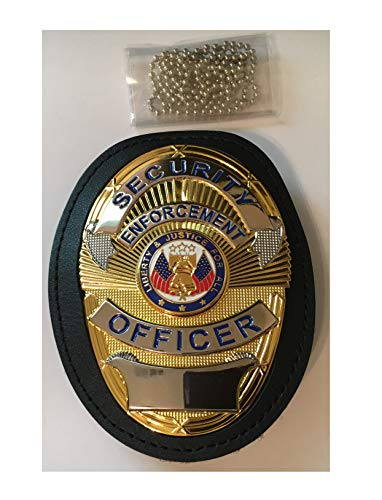 SEO Security Enforcement Officer Shield in Leather Holder w Metal Belt Clip and 30