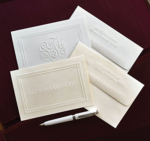 The Ultimate Embossed Double Border Notes - Personalized Embossed Notes -3190
