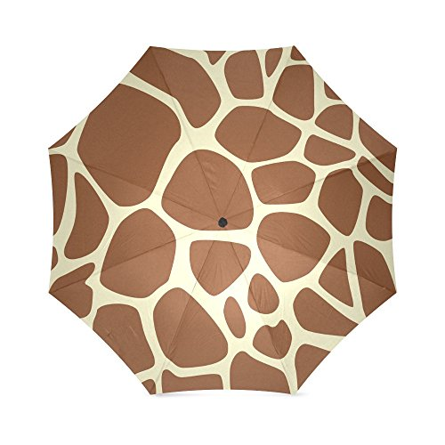 Giraffe Animal Print Folding Windproof outdoor Travel Umbrella for Women