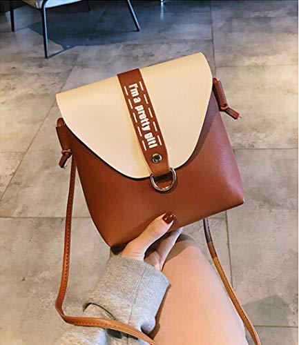 sac bandoulière du sac messenger Brun sac en à mobile Mini bandoulière main Femmes cuir à sac à phone Greetuny w6xzPYqF7