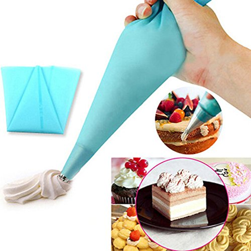1 piece Reusable Silicone Icing Piping Cream Pastry Bag Cake Decorating Tool For Fondant DIY Cupcake Patisserie Decorating Bag Bakeware