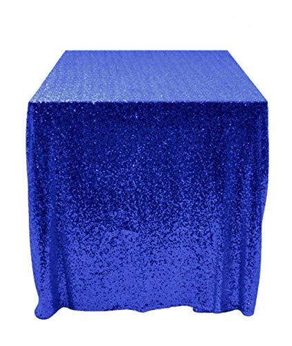 50''x50'' Square Royal Blue Sequin Tablecloth Select Your Color & Size Can Be Available ! Sequin Overlays, Runners, Gatsby Wedding, Glam Wedding Decor, Vintage -