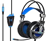 PS4 Headset KingTop Over Ear Stereo Bass Gaming Headphone with Noise Isolation Microphone for PS4 Xbox One S PC Mobile Phones Guarranteed