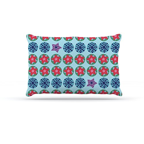 Kess InHouse Jane Smith Seasons Winter  bluee Red Dog Bed