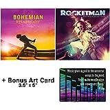 The Larger Than Life Legends Collection: Bohemian Rhapsody + Rocketman Movie Soundtrack CD Collection + Bonus Art Card