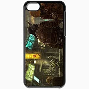 Personalized iPhone 5C Cell phone Case/Cover Skin Art City Muzhik Tattoo Sign Neon Black