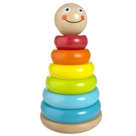 f9b56e9614bf8 ColorBaby - Juego círculos de madera de colores (42138)  Amazon.es ...