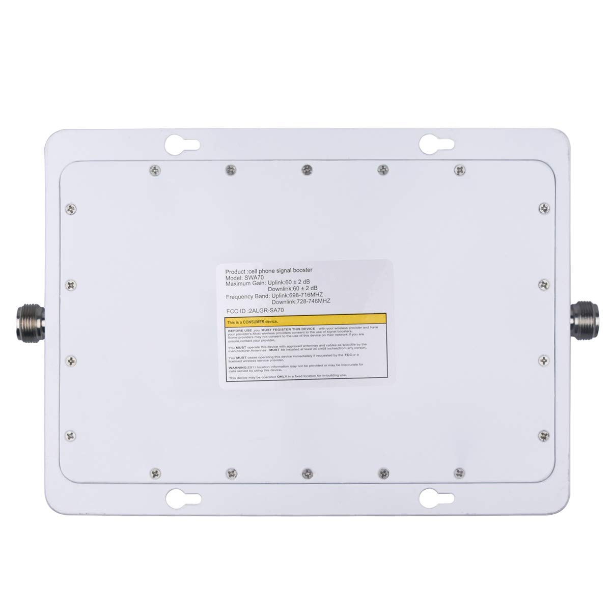 ATT Cell Phone Signal Booster 4G LTE Mobile Signal Booster Amplifier FDD AT/&T T-Mobile Cell Signal Booster Repeater 700MHz Band 12//17 for Home Coverage Upto 5,000 Sq Ft Panel Yagi Antennas