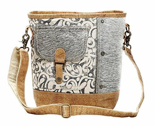 (Myra Bag Flap Pocket Cowhide Shoulder Bag S-1125 )