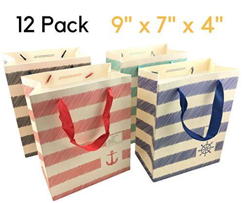 Gift Bags Christmas Medium - Luxury 12 pcs Shopping Paper Bag 9