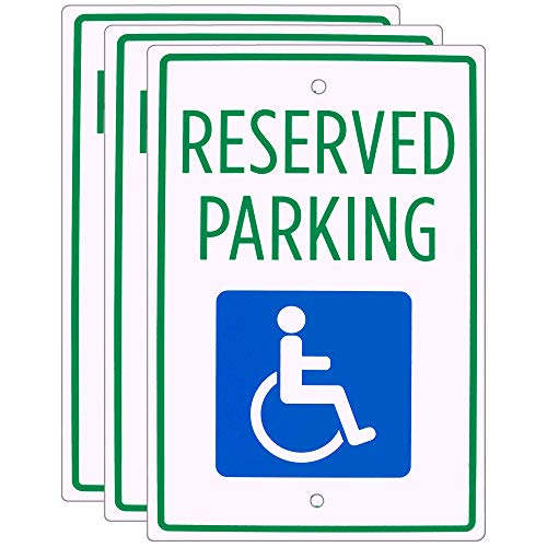 (Handicap Parking Sign (3-Pack) – 18