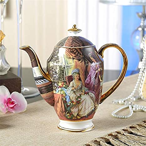 Tetera de Porcelana de Hueso de China Antigua con infusor ...