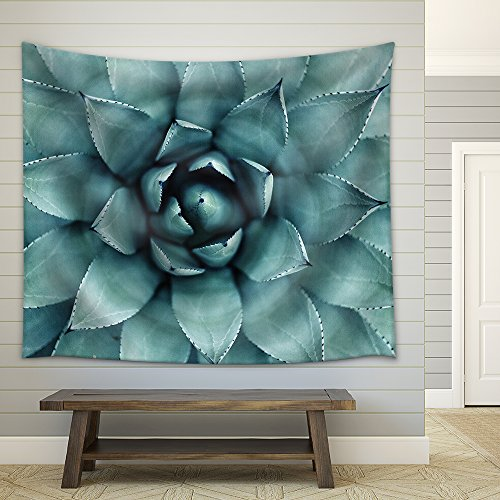 Sharp Pointed Agave Plant Leaves Fabric Wall