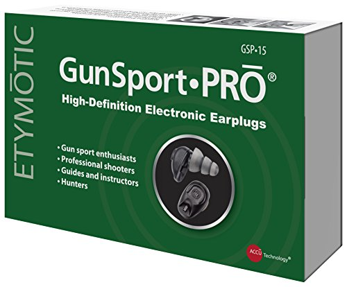 Etymotic GunsportPRO Earplugs, Electronic Hearing Protection Designed for Hunters, Shooters and Gun Enthusiasts, 1 pair, Black by Etymotic Research (Image #4)