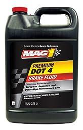 Mag 1 62205 DOT 4 Premium Brake Fluid - 1 Gallon, (Pack of 6)