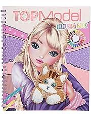 Depesche 11450 TOPModel - Colouring Book Cat, kleurboek met 40 kattenmotieven om te kleuren, incl. stickervel met kattenapplicatie met vacht en pailletten