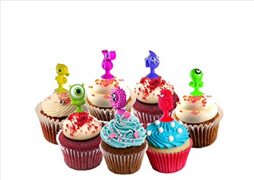 TheWorldMart Cupcake Toopers Childrens Party Pastry Decoration Birthays Parties 20pcs Lot Good Cupule Kids Monsters Ocean Animals Action Figures Toys Suction Cup 2-3 cm