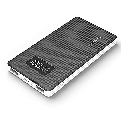 Zoweetek PINENG Dual USB Digital Display Portable Power Bank with 10000mAh Capacity (PN-963 Black)
