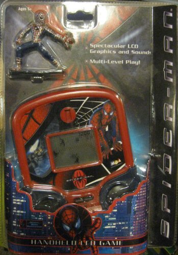 Marvel Spider-Man Electronic Handheld LCD Game with Action Figure