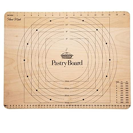 Amazoncom Kitchencraft Large Wooden Pastry Board With Markings