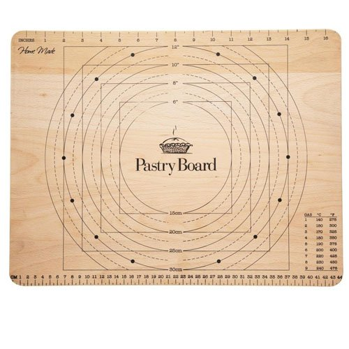 Kitchen Craft Pastry Board with Markings - Wooden 45cm x 35cm KCHMPBOARD
