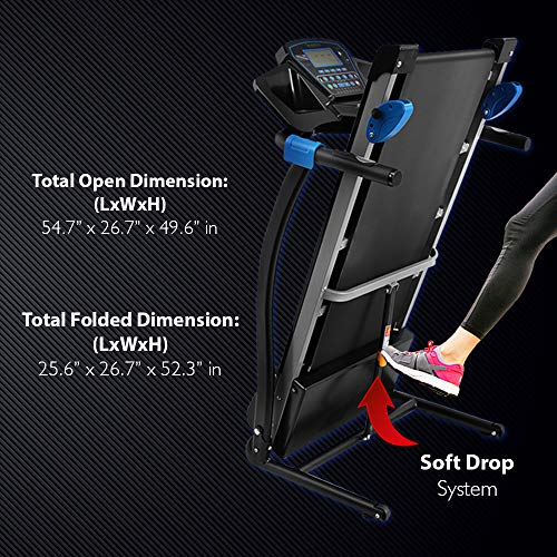 Serenelife Smart Digital Folding Treadmill Electric