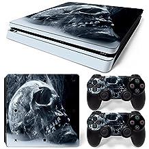 Sony PS4 Playstation 4 Slim Skin Design Foils Faceplate Set - Acid Skull Design