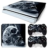 CSBC Skins Sony PS4 Slim Design Foils Faceplate Set - Acid Skull Design