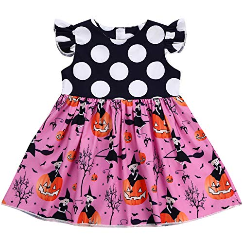 (Halloween Toddler Kids Baby Girls Cartoon Pumpkin Dress (2 T,)
