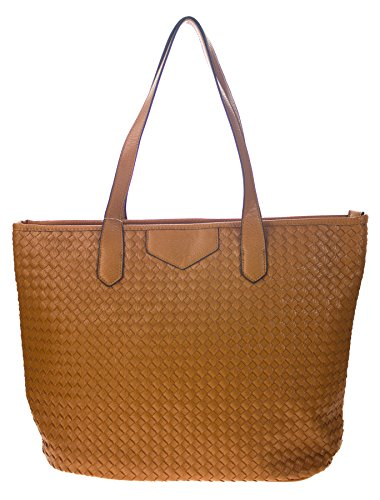 Canal Collection Large-Size Woven Basket Shopping Tote (Camel) by CANAL
