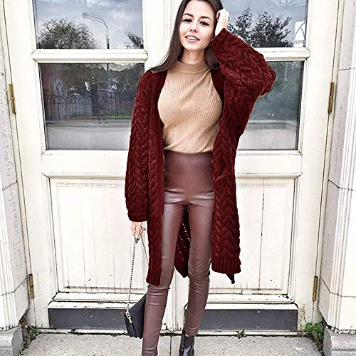 Color Invierno Sólido Mujeres Para Mujer La Estilo Tamaño Tops De Suelta Interior Sudadera Larga Con Rojo Vino Capa Gran Ropa Pullover Manga Blusa Twist Outwear qzfwp