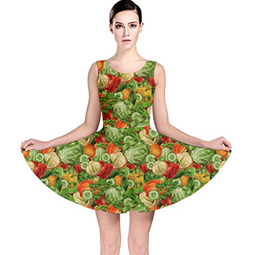 green-vegetable-organic-food-mix-with-cabbage-parsley-skater-dress