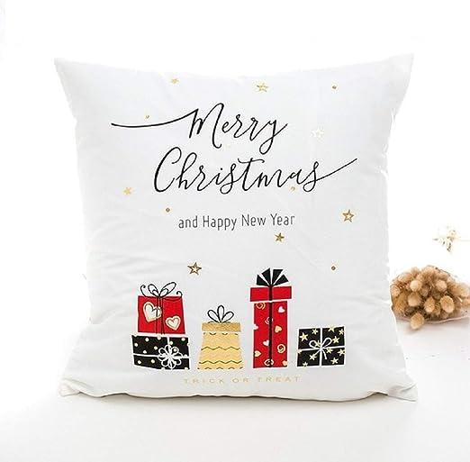HOUSE CLOUD Navidad Algodón Decorativo Bordado Cojines Cojines ...