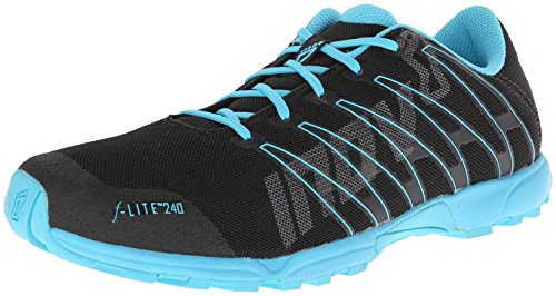 Inov-8 Women's F-Lite 240 (S) Cross-Training Shoe,Raven/Blue,9 E US