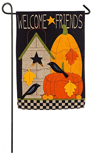 Evergreen Welcome Fall Friends Burlap Garden Flag, 12.5 x 18 inches