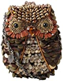 Mary Frances Accessories What A Hoot Shoulder Bag,Bronze Multi,one size