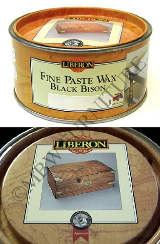 Black Bison Wax - Liberon Fine Paste Wax Black Bison 500ml - Georgian Mahogany