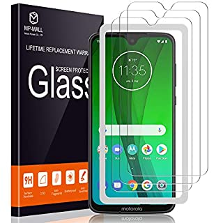 MP-MALL [3-Pack] Screen Protector for Motorola Moto G7 / Moto G7 Plus Tempered Glass [Easy Installation Alignment Frame] [Anti-Scratch] Case Friendly
