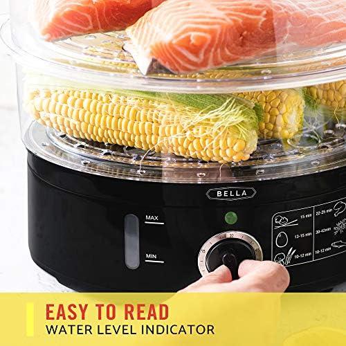 BELLA (13872) 7.4 Quart Healthy Food Steamer with 2-Tier Stackable Baskets 51jjgNPn6tL