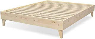 product image for eLuxurySupply Wood Bed Frame - 100% North American Pine - Solid Mattress Platform Foundation w/Pressed Pine Slats - Easy Assembly - California King