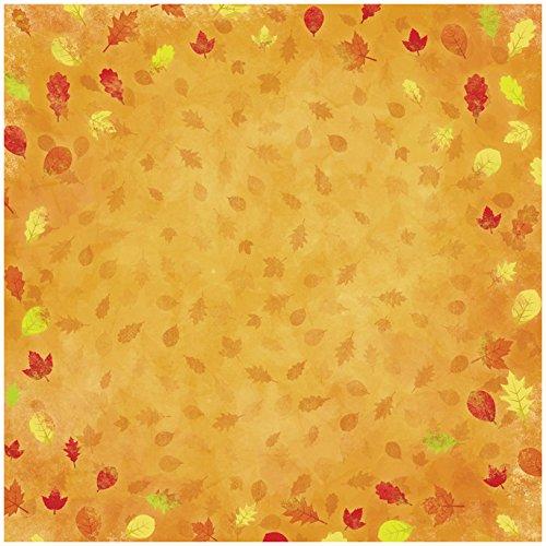 KAREN FOSTER Design Scrapbooking Paper, 25 Sheets, Falling Leaves, 12 x - Paper 12x12 Leaf