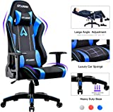 GTXMAN Gaming Chair Racing Style Office Chair Video Game Chair Breathable Mesh Chair Ergonomic Heavy Duty 350lbs Esports Chair Blue