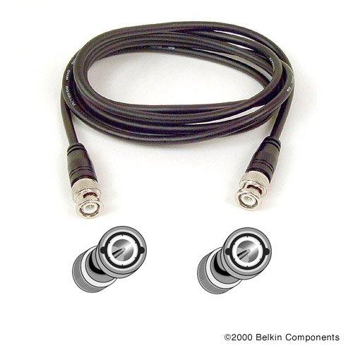 Belkin RG58 50-Ohm Thin Ethernet Coaxial Cable with BNC to BNC Male Connectors (6 Feet)